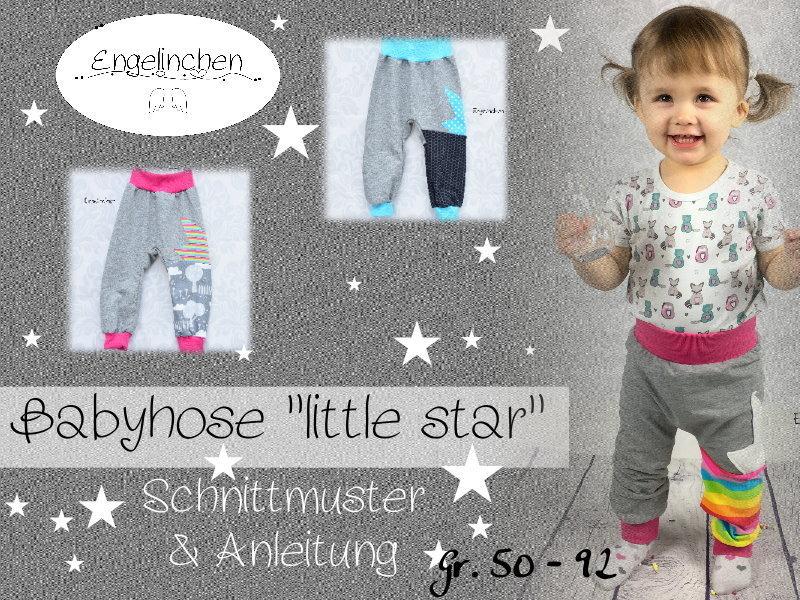 eBook Schnittmuster Babyhose little star 50-92 - Engelinchen
