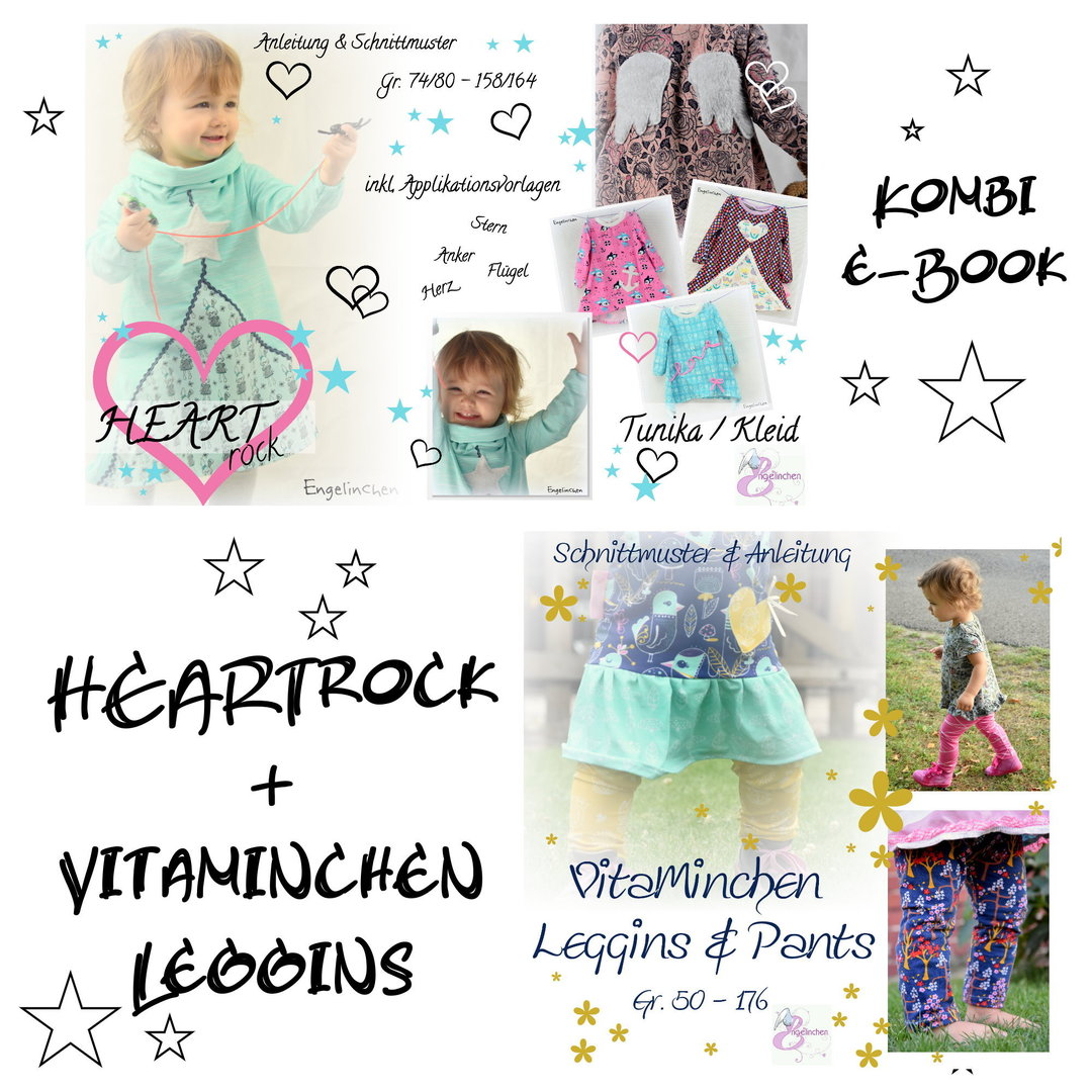 Kombi eBook Bundle HEARTrock & Vitaminchen Leggins / Pants