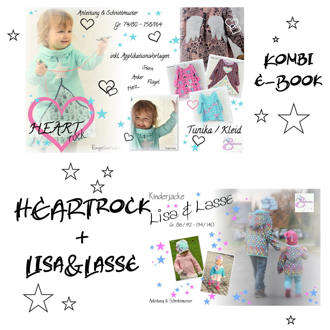 Kombi eBook Bundle HEARTROCK + Kinderjacke Lisa & Lasse