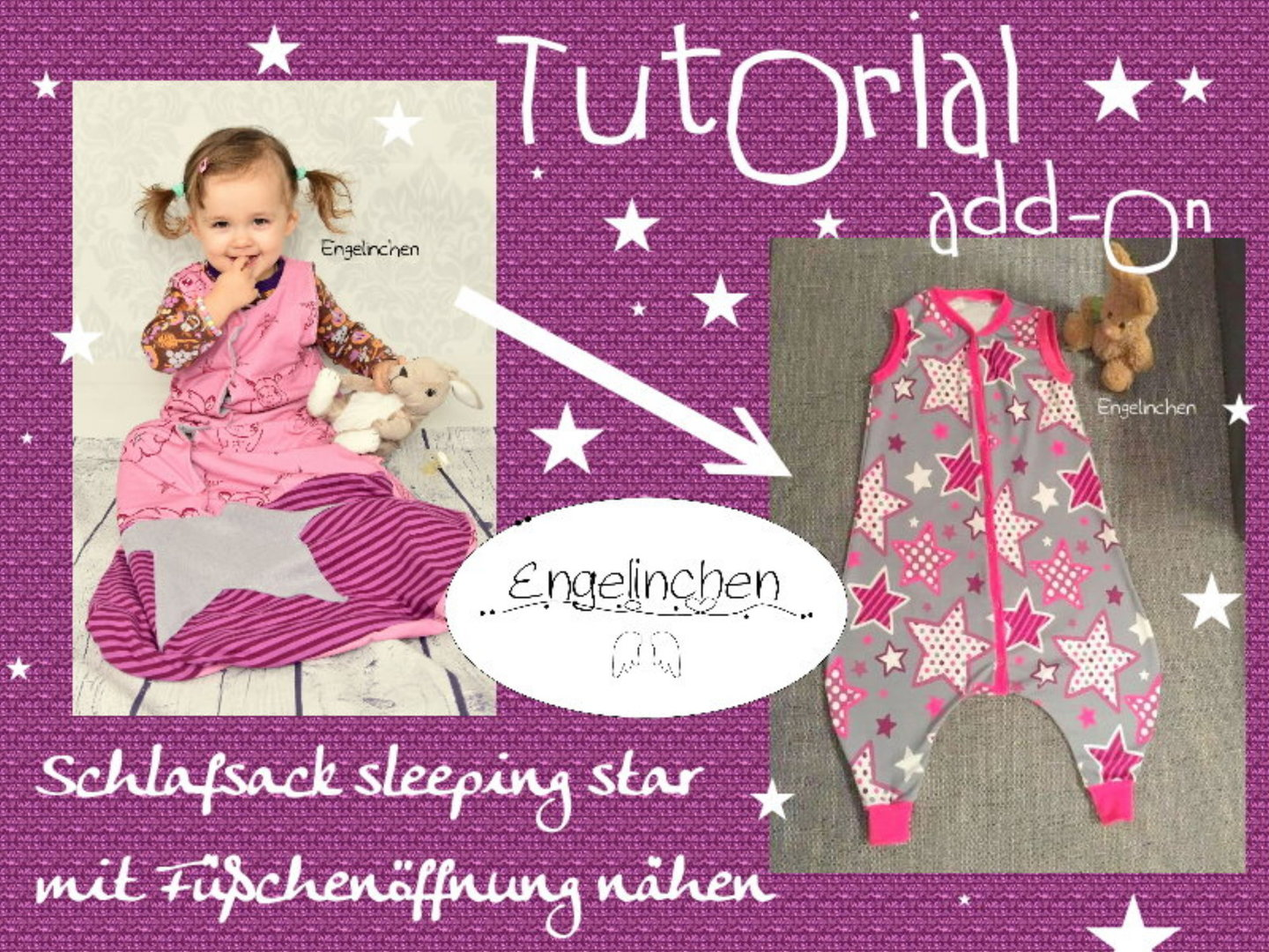 Tutorial add-on zum Schlafsack sleeping star: Fußöffnungen