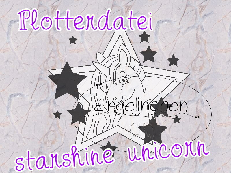 Plotterdatei Starshine Unicorn