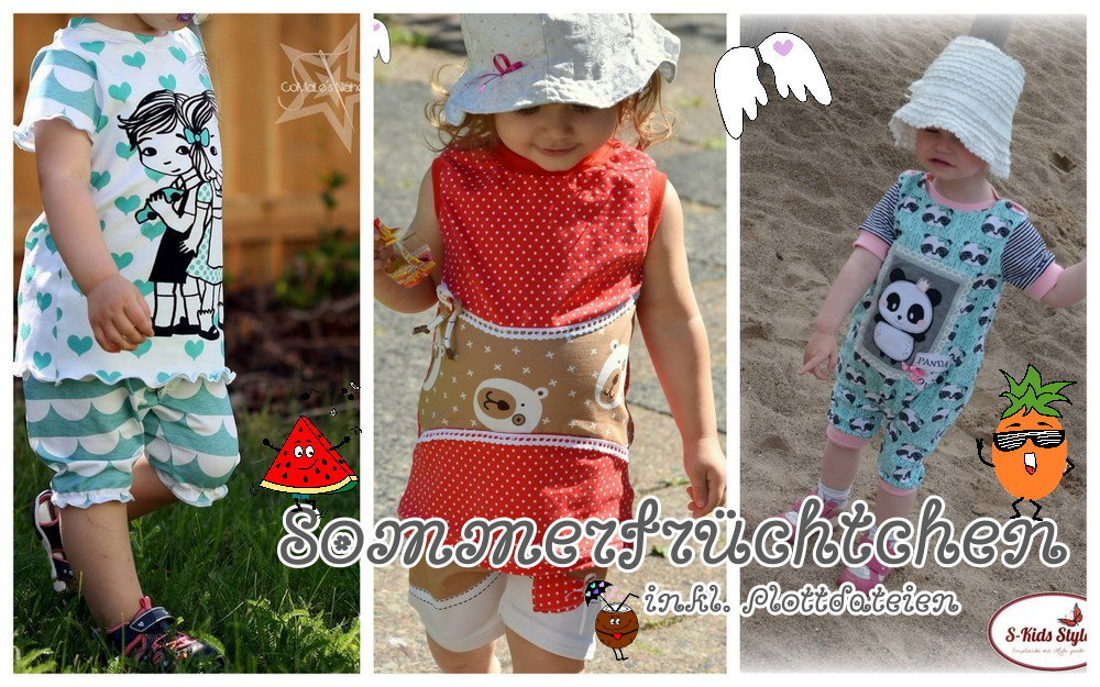 Kombi eBook Bundle Sommerfrüchtchen Babyschnitte melon jumper pineapple shirt coconut pants 50-92