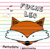 Fuchs Leo Plotterdatei + Applikationsvorlage