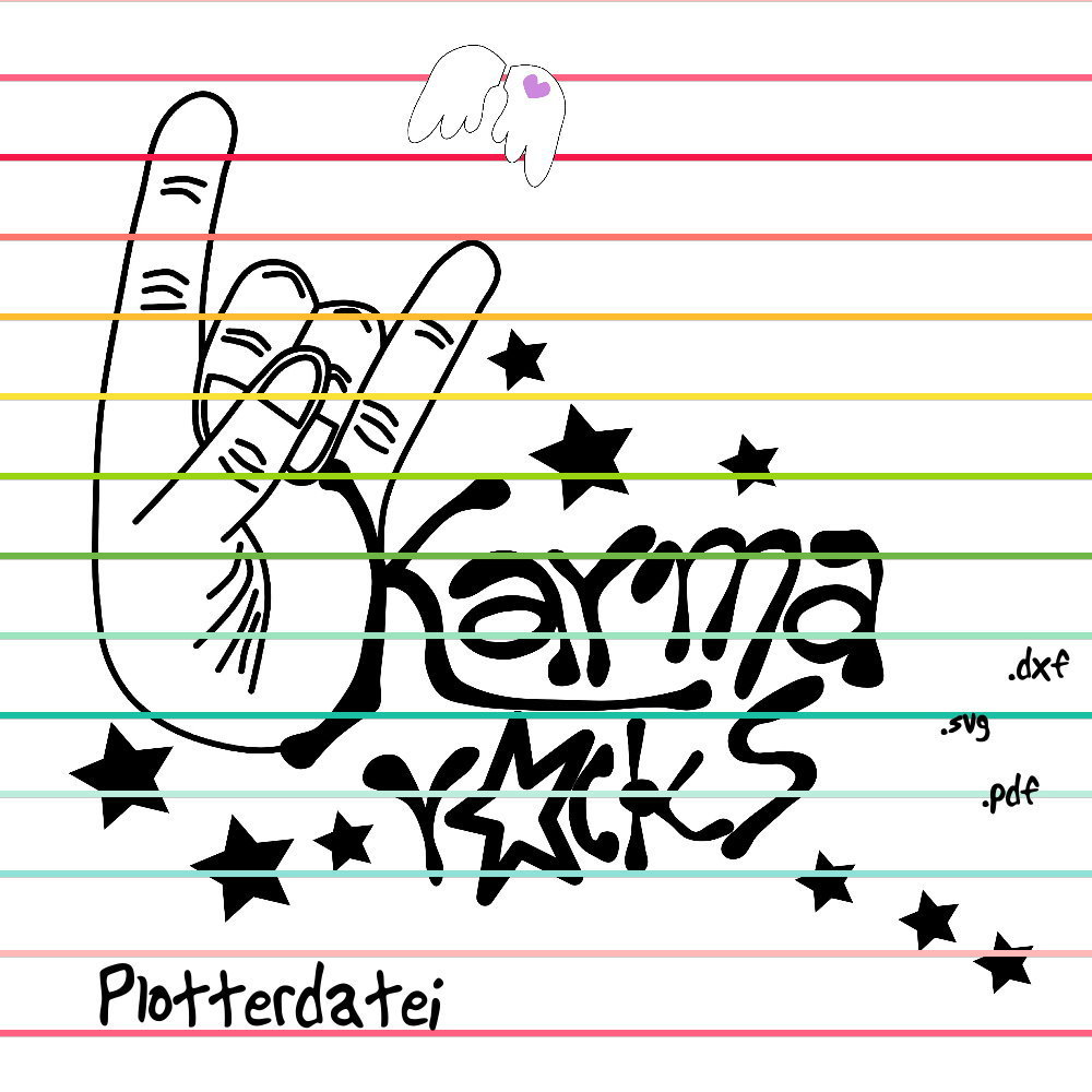 Karma rocks - Plotterdatei